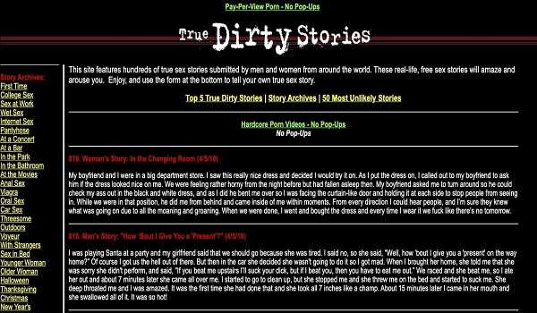 True Dirty Stories